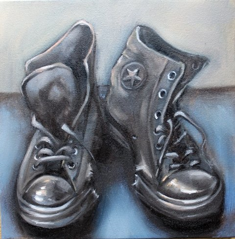 Chucks. 2013. Oil on canvas. web